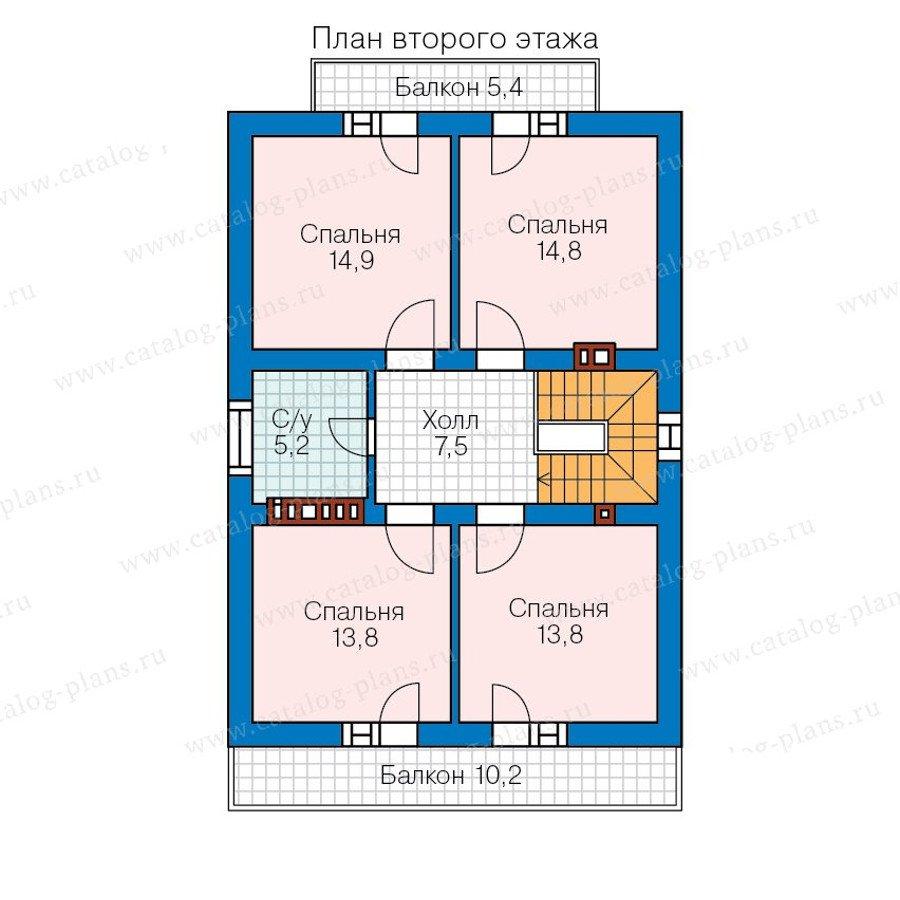 План 3-этажа проекта 59-99A
