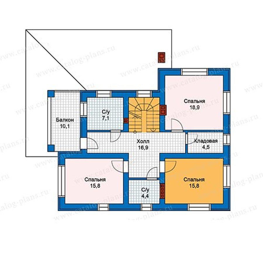 План 2-этажа проекта 59-93KL