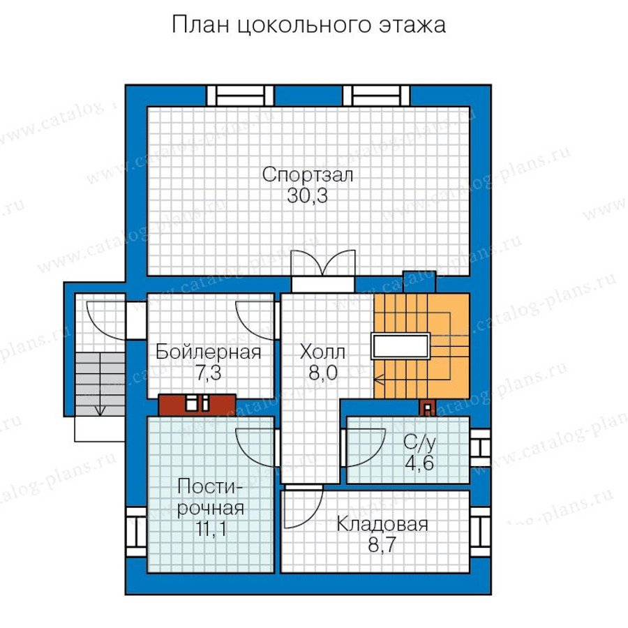 План 1-этажа проекта 59-99A
