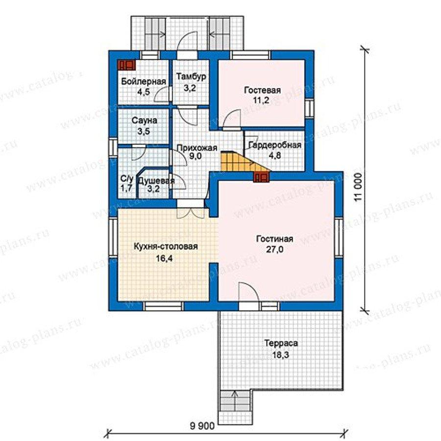 План 1-этажа проекта 59-97KL1