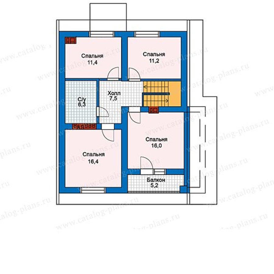 План 2-этажа проекта 59-97KL1