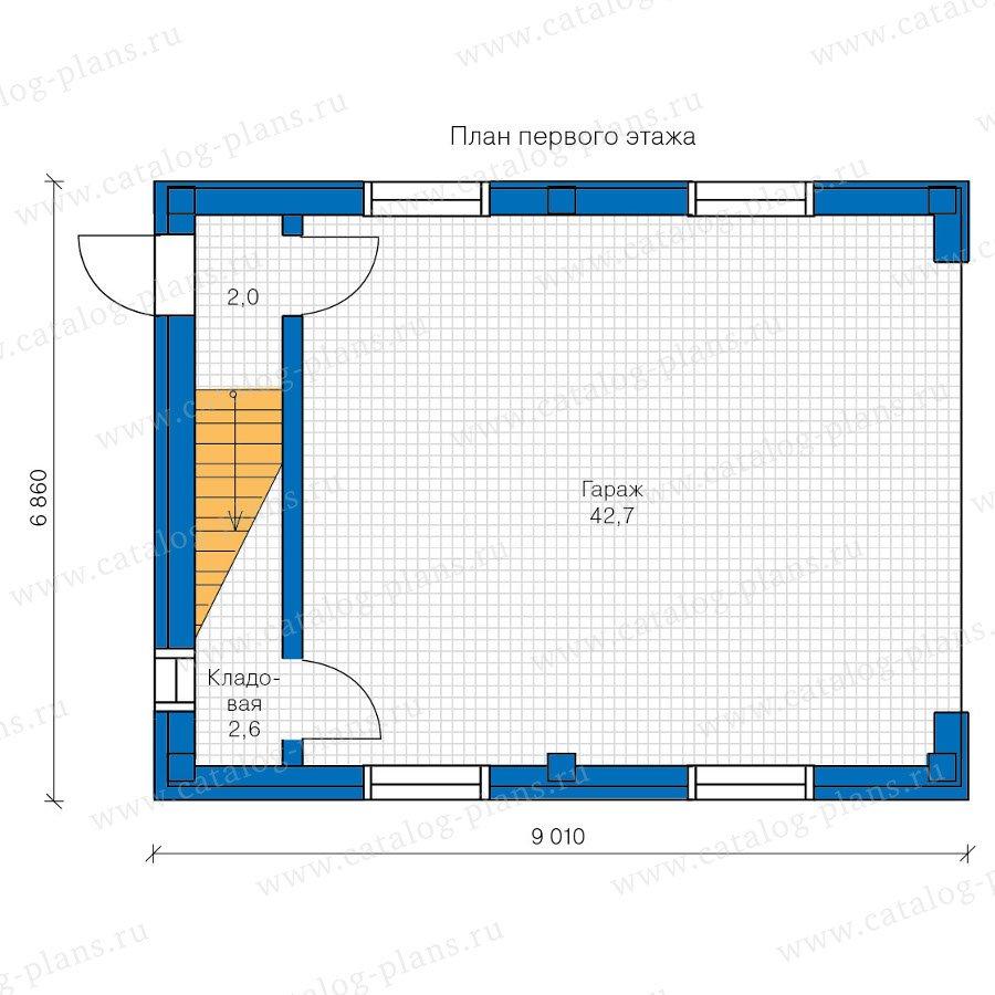 План 1-этажа проекта 90-19