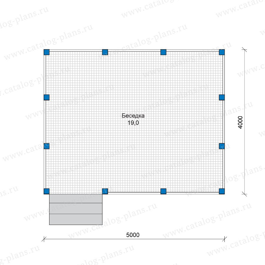 План 1-этажа проекта 90-12