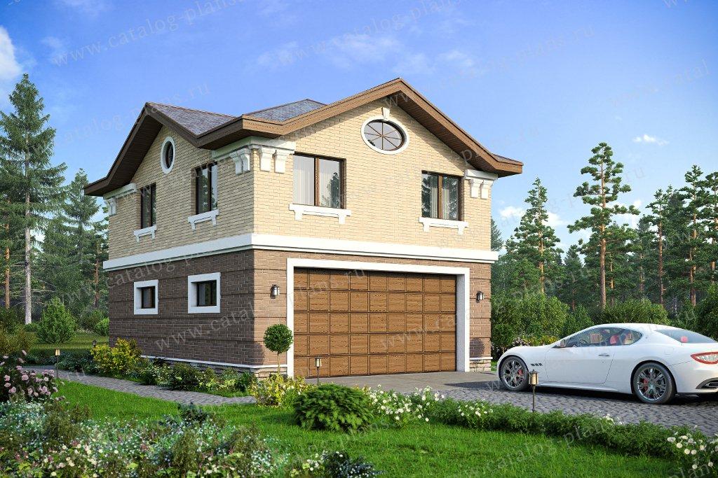 Проект жилой дом #90-19 материал - каркас, стиль европейский