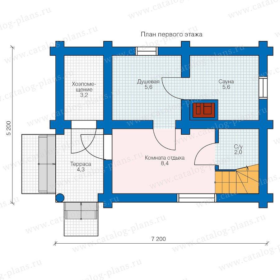 План 1-этажа проекта 90-20