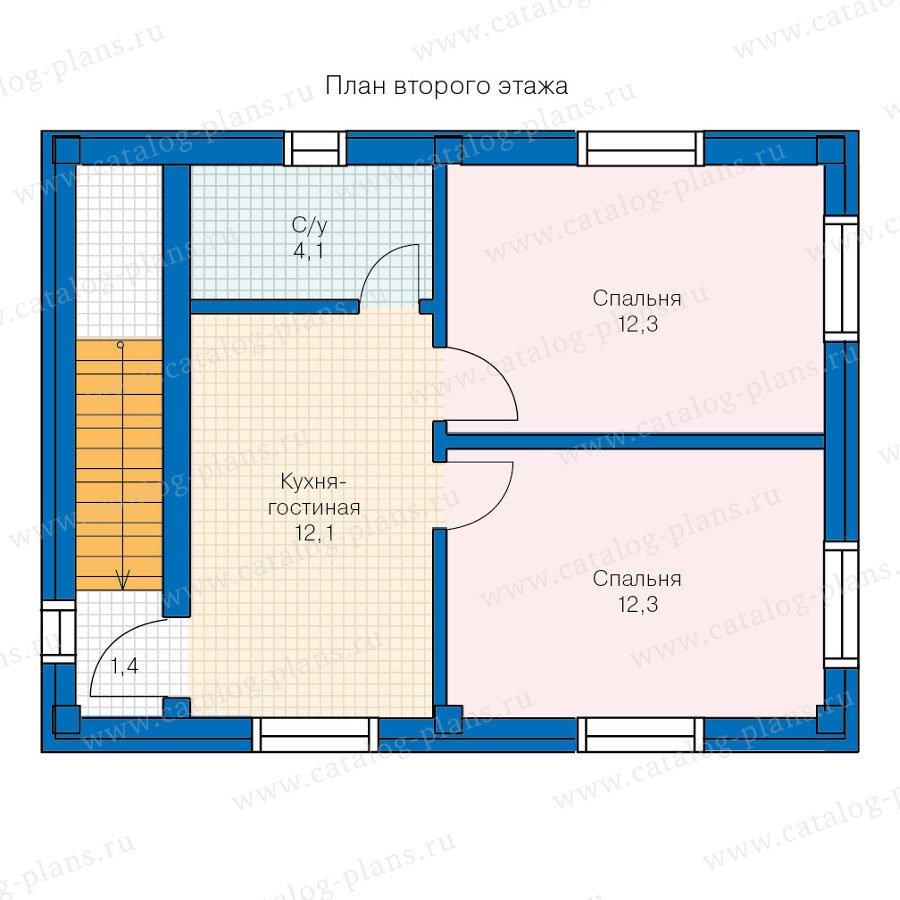 План 2-этажа проекта 90-19