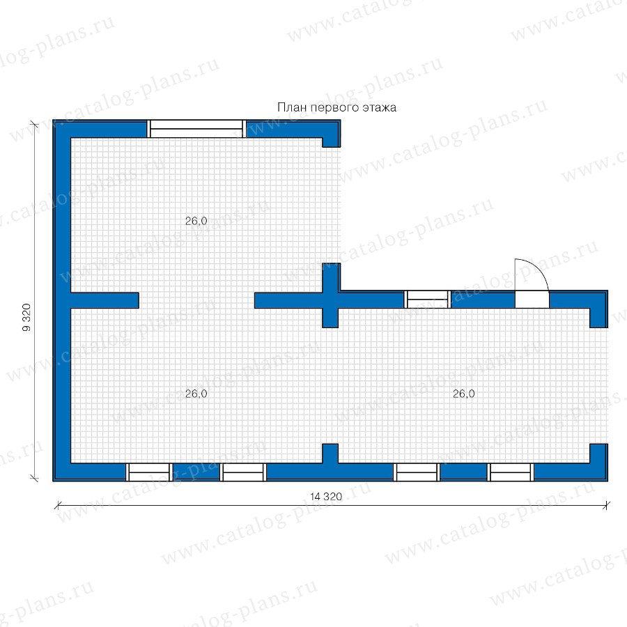 План 1-этажа проекта 90-18
