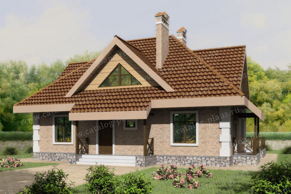 Проект жилой дом #60-52 материал - газобетон, стиль европейский
