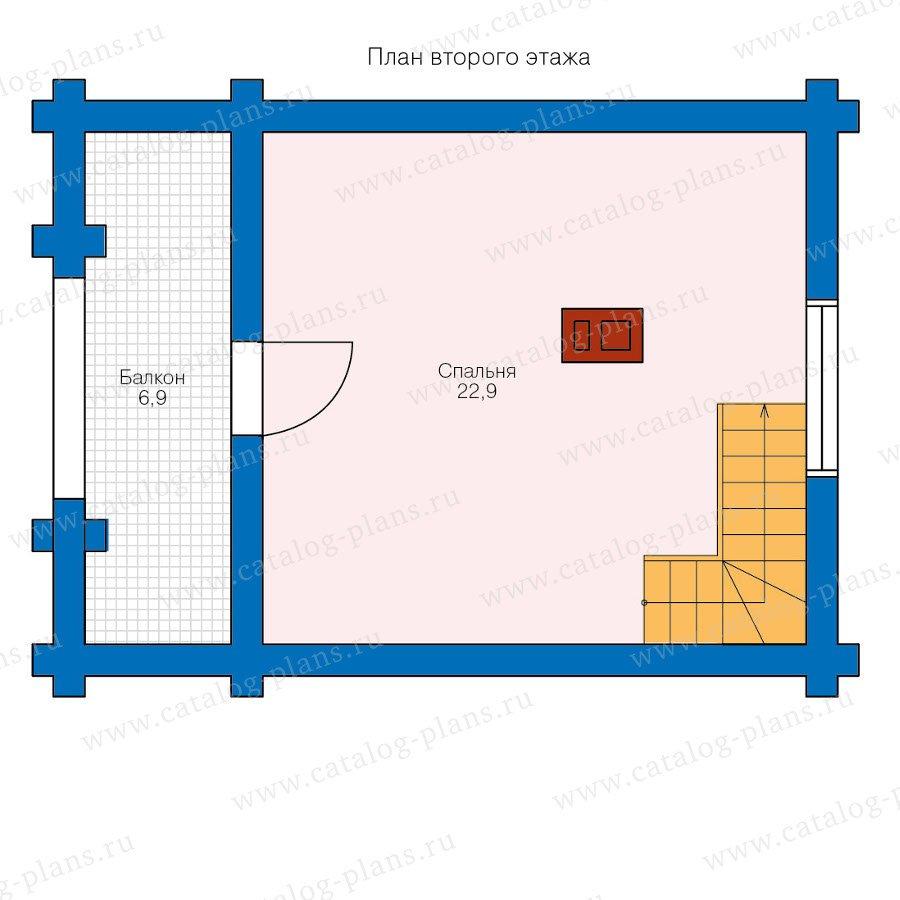 План 2-этажа проекта 90-20