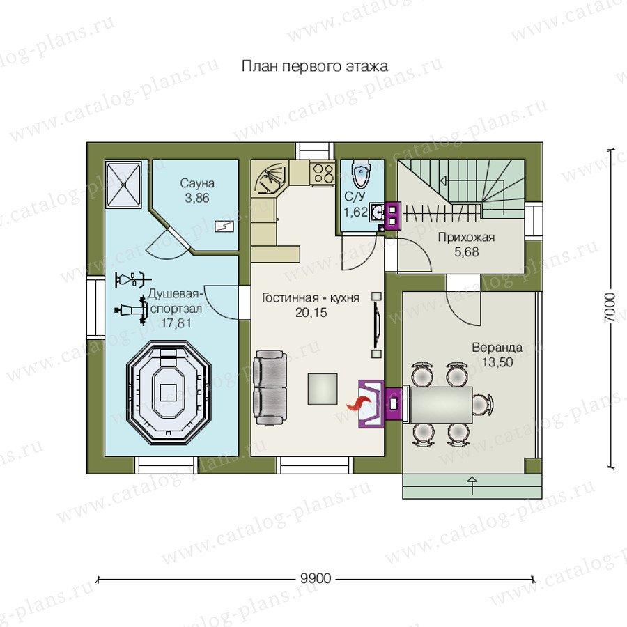 План 1-этажа проекта 70-03