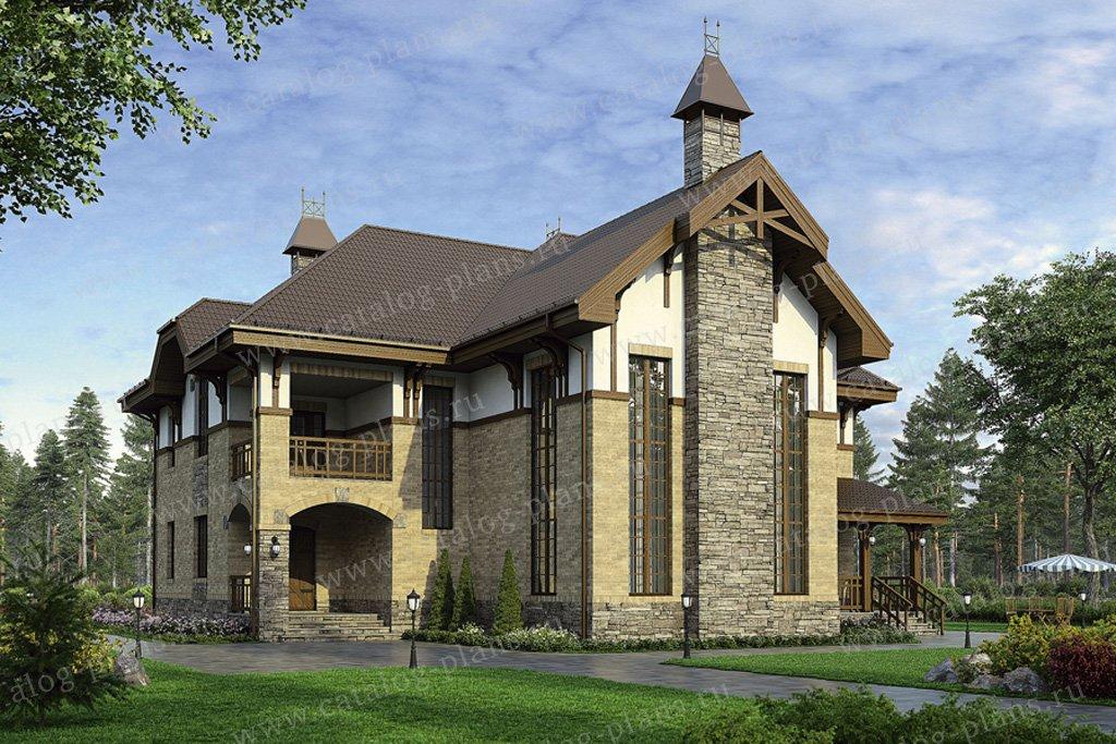 Проект жилой дом #36-57 материал - кирпич, стиль готический