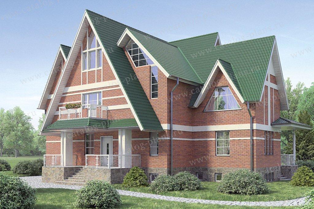 Проект жилой дом #36-37 материал - кирпич, стиль европейский