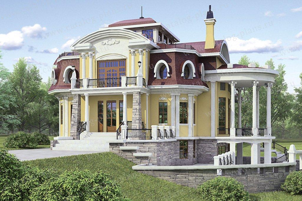 Проект жилой дом #36-06 материал - кирпич, стиль итальянский