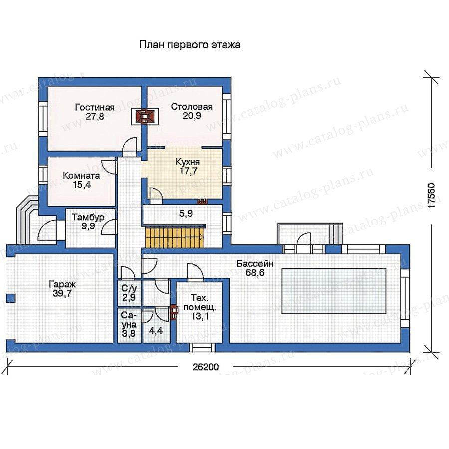План 1-этажа проекта 36-04