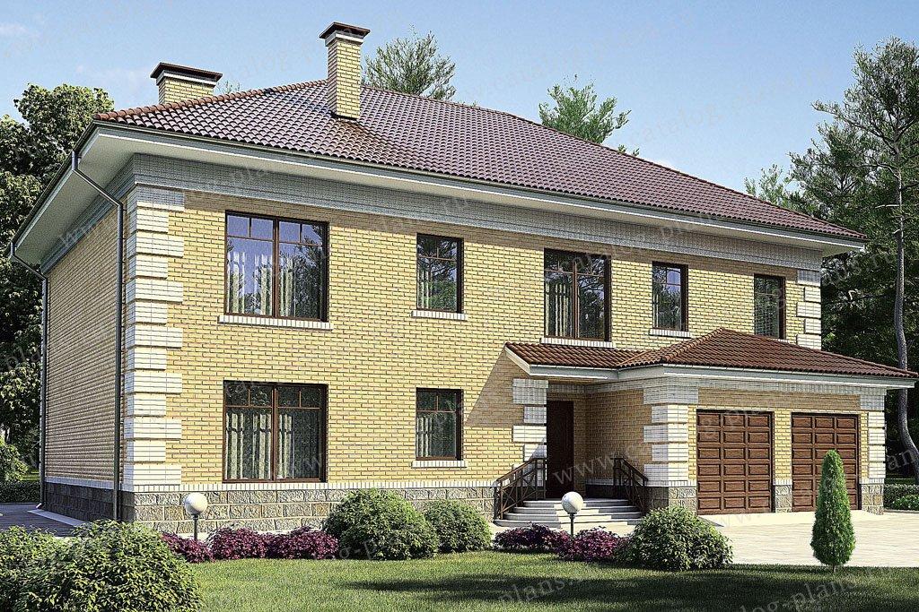 Проект жилой дом #36-04 материал - кирпич, стиль английский