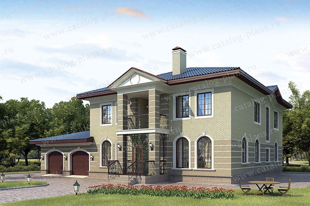 Проект жилой дом #36-27 материал - кирпич, стиль европейский