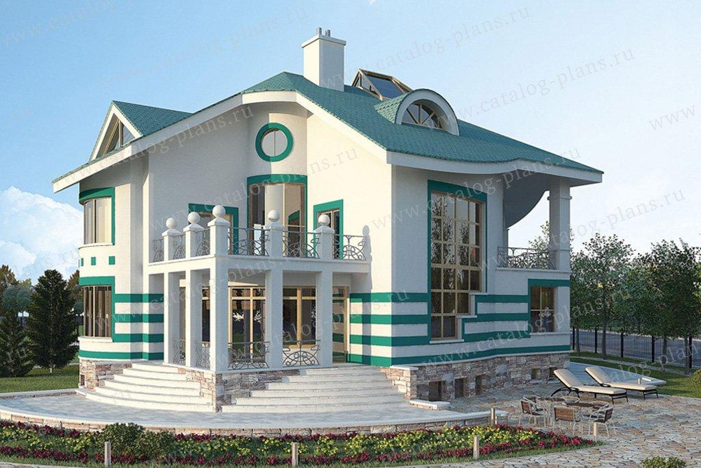 Проект жилой дом #36-16 материал - кирпич, стиль современный