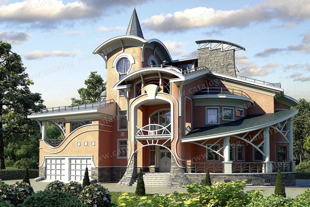 Проект жилой дом #36-24 материал - кирпич, стиль модерн