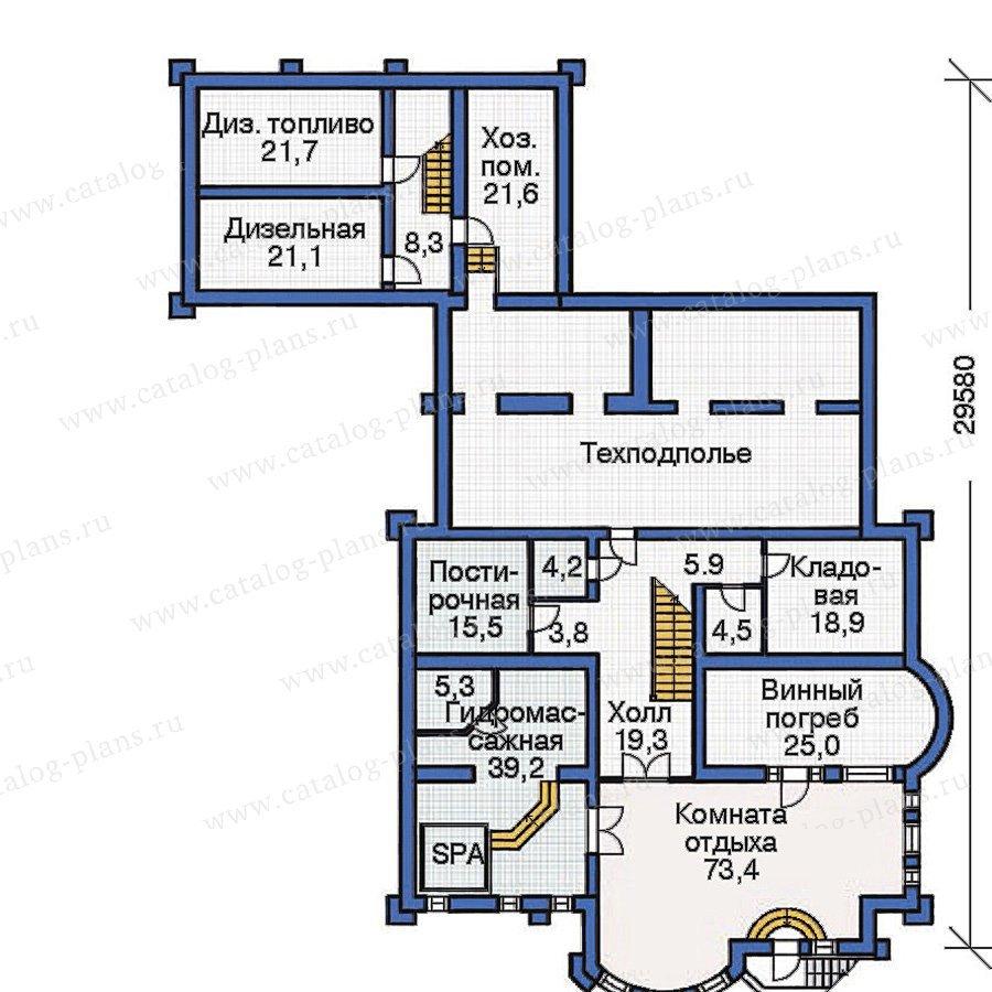 План 1-этажа проекта 36-07