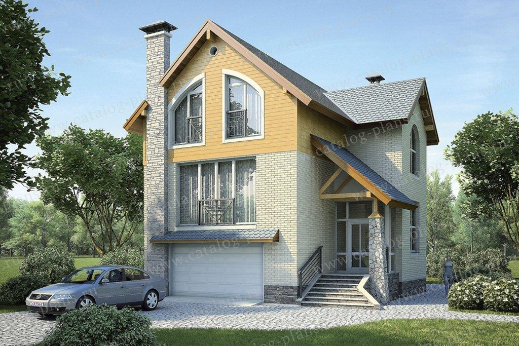Проект жилой дом #36-69 материал - кирпич, стиль современный