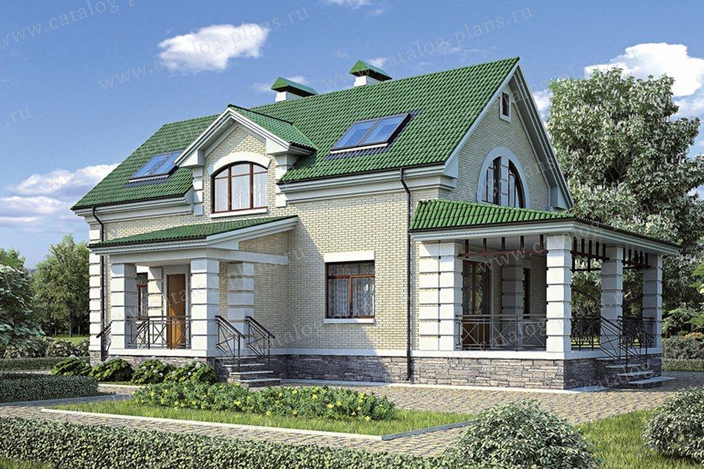 Проект жилой дом #36-77 материал - кирпич, стиль классический