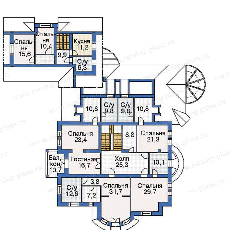 План 3-этажа проекта 36-07