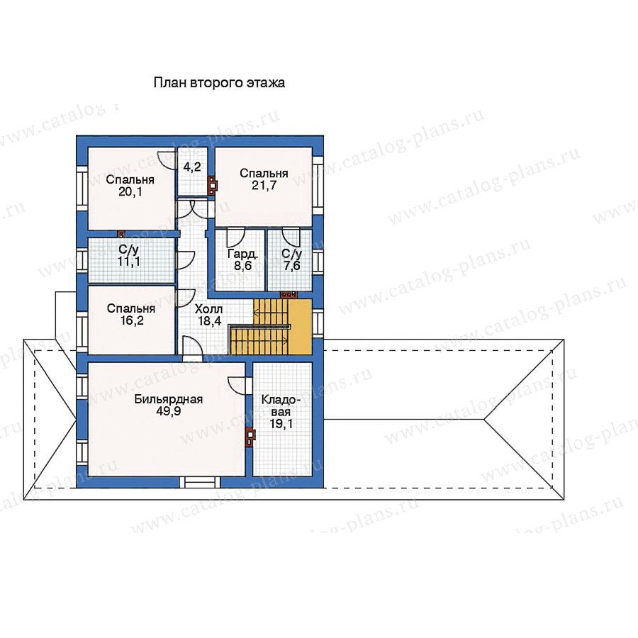 План 2-этажа проекта 36-04