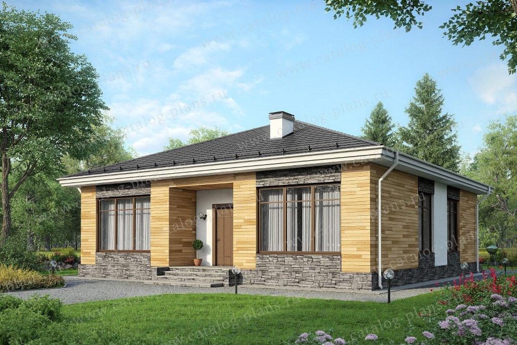Проект жилой дом #60-50 материал - газобетон, стиль современный