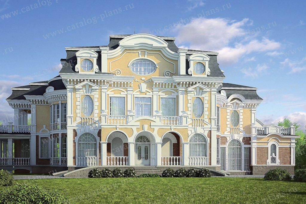 Проект жилой дом #36-09 материал - кирпич, стиль итальянский