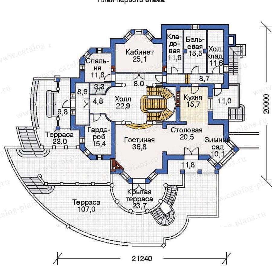 План 2-этажа проекта 36-06