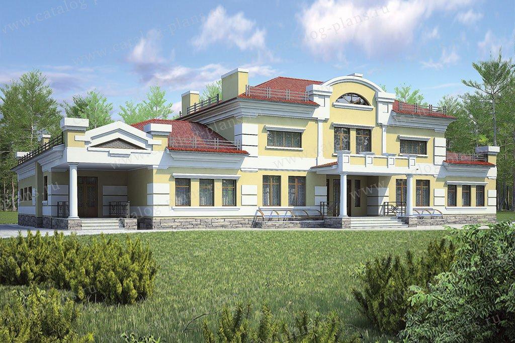 Проект жилой дом #36-64 материал - кирпич, стиль классический