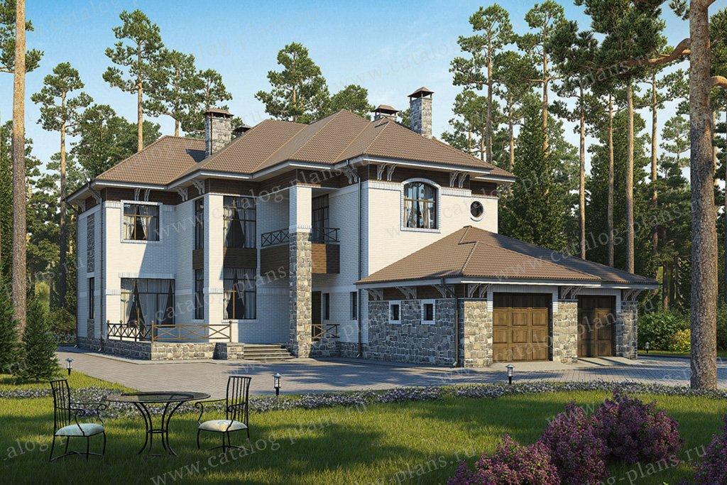 Проект жилой дом #36-39 материал - кирпич, стиль европейский