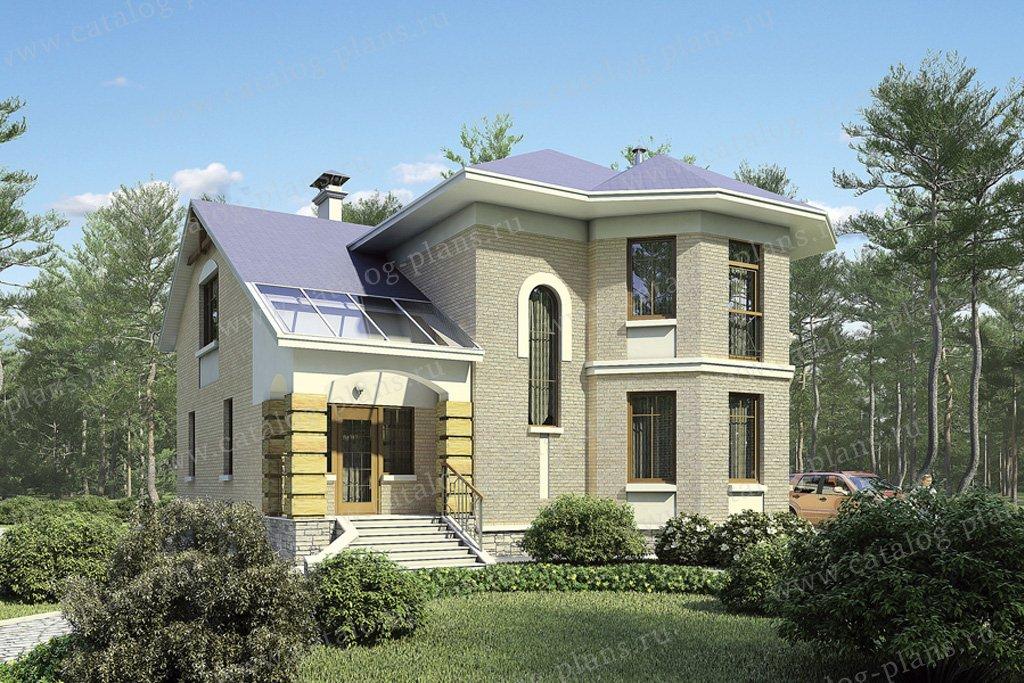 Проект жилой дом #36-30 материал - газобетон, стиль европейский