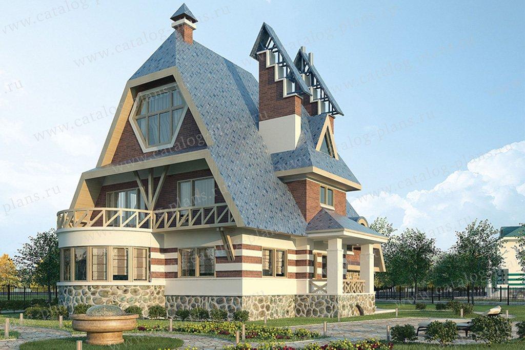 Проект жилой дом #36-15 материал - кирпич, стиль модерн