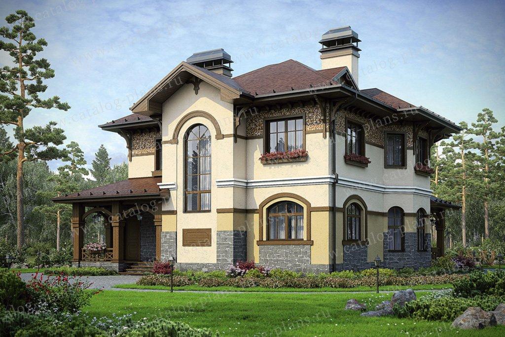 Проект жилой дом #36-44 материал - кирпич, стиль европейский