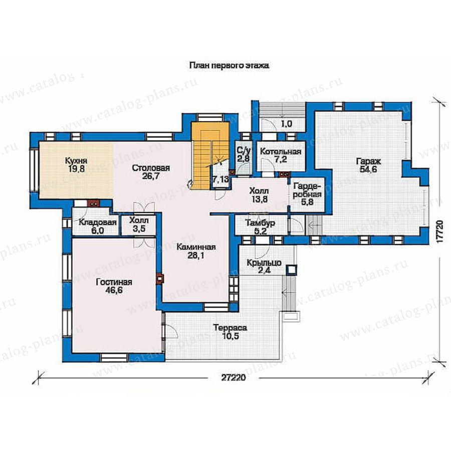 План 1-этажа проекта 36-39