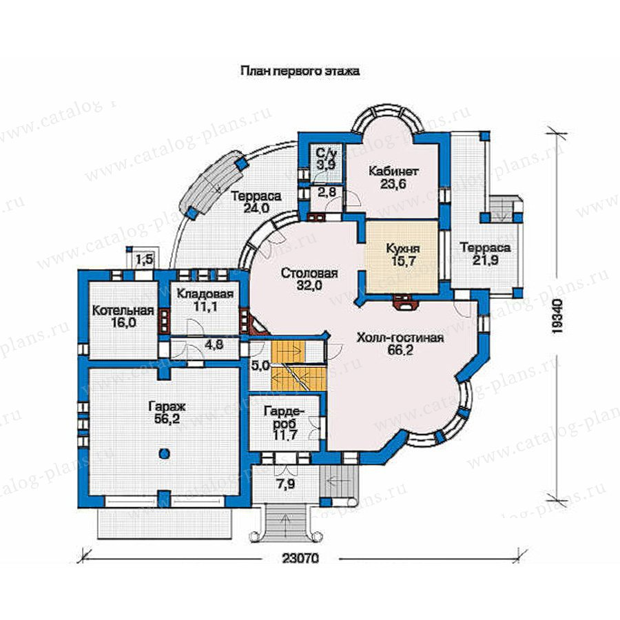 План 1-этажа проекта 36-18