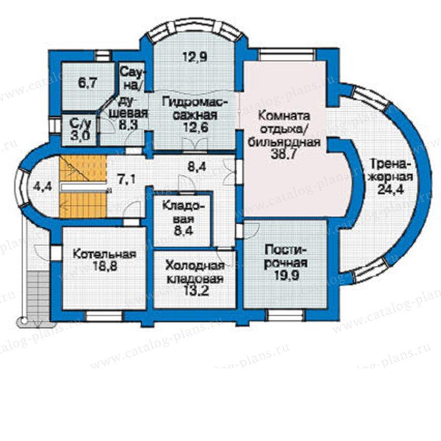 План 1-этажа проекта 36-38