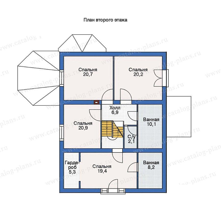 План 2-этажа проекта 36-29