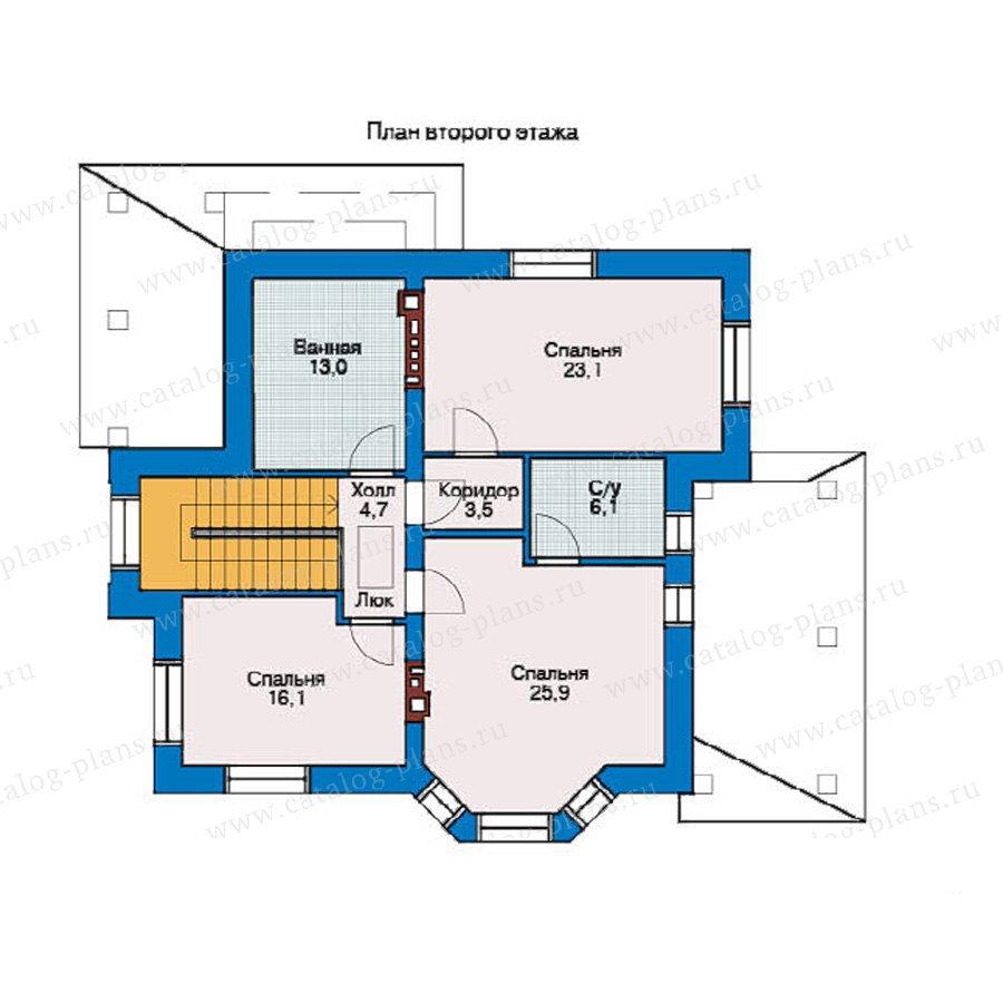 План 2-этажа проекта 36-44
