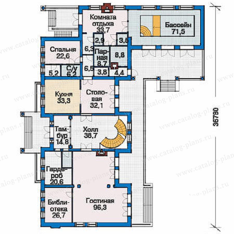 План 2-этажа проекта 36-64