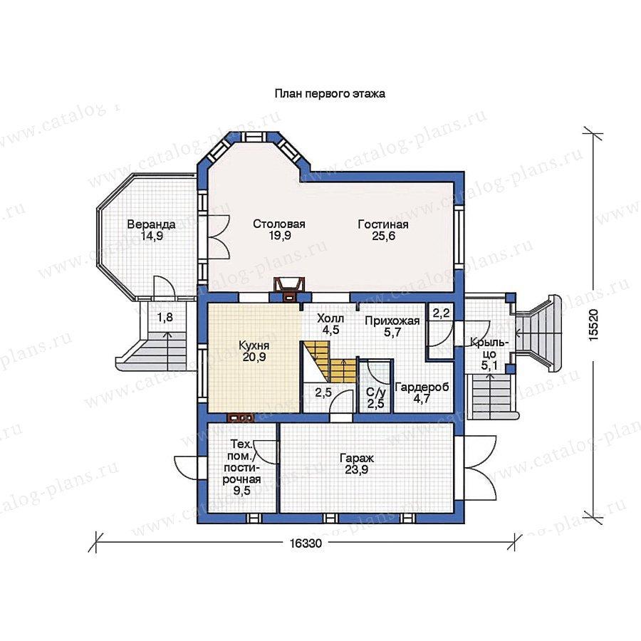 План 1-этажа проекта 36-29