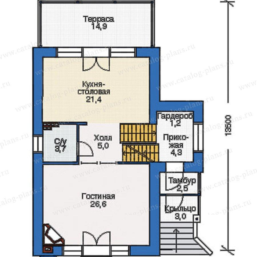 План 2-этажа проекта 36-69
