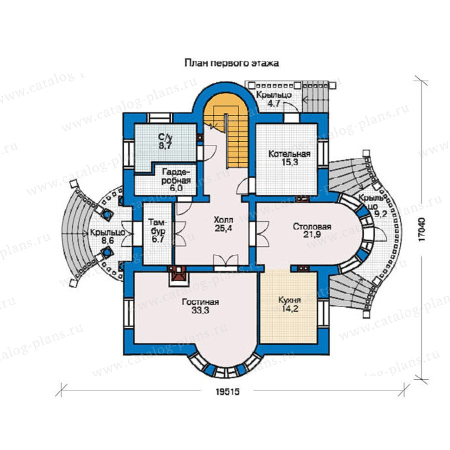 План 1-этажа проекта 36-50