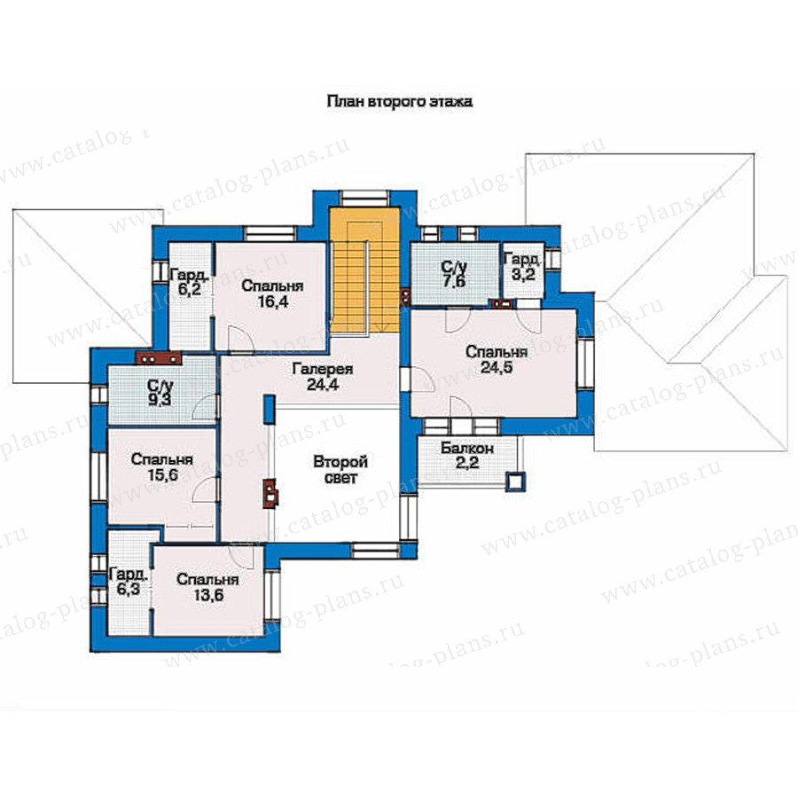 План 2-этажа проекта 36-39