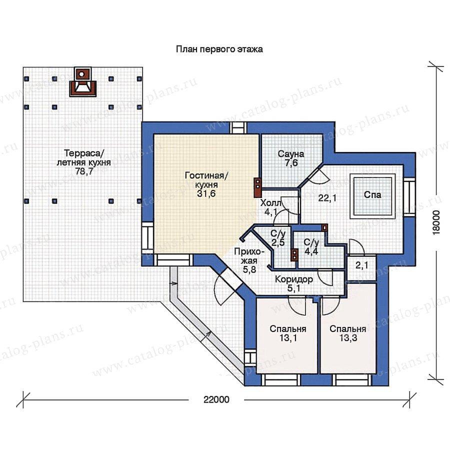 План 1-этажа проекта 36-53