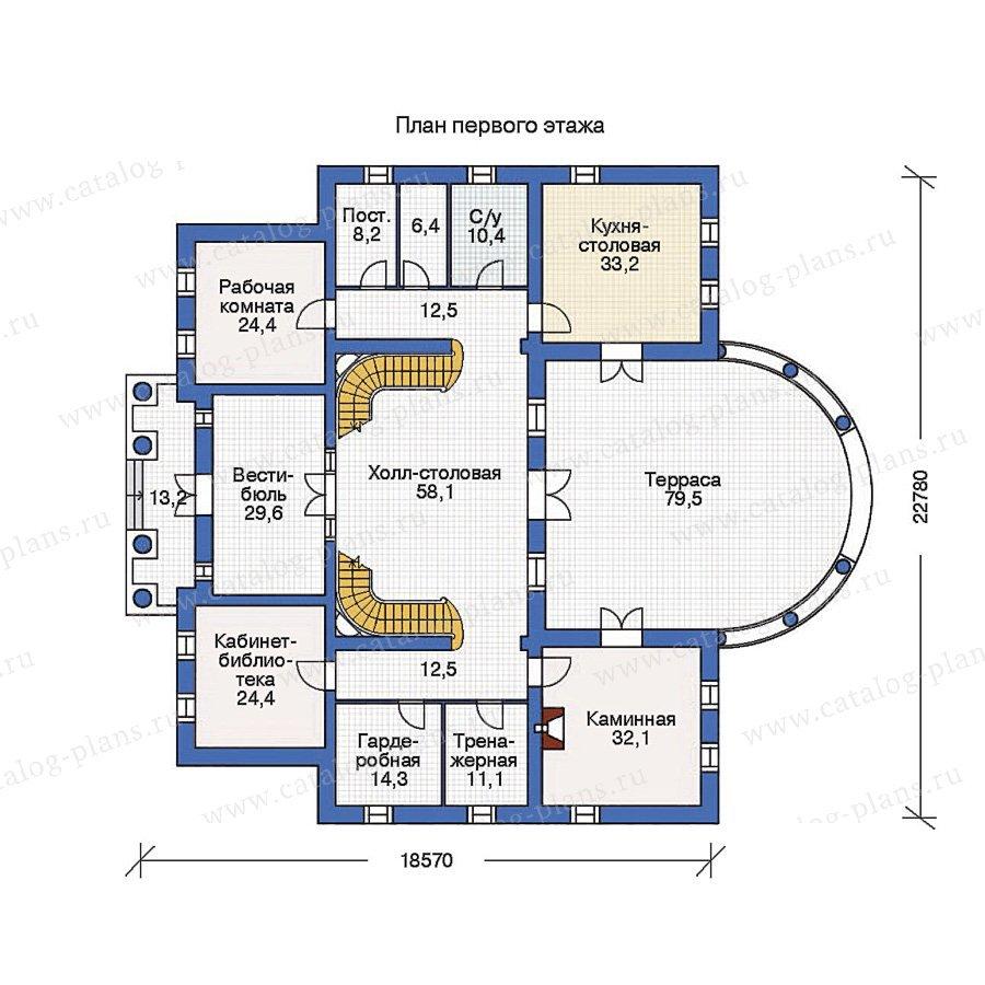 План 1-этажа проекта 36-14