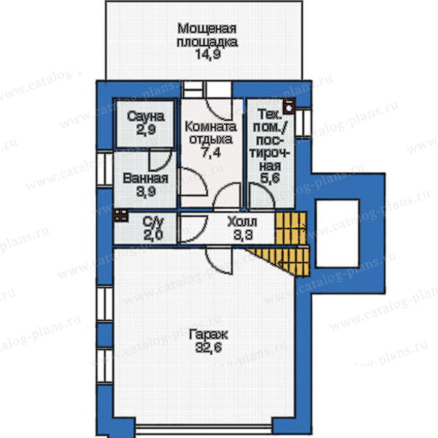 План 1-этажа проекта 36-69