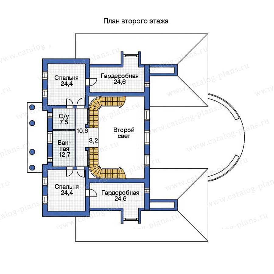 План 2-этажа проекта 36-14