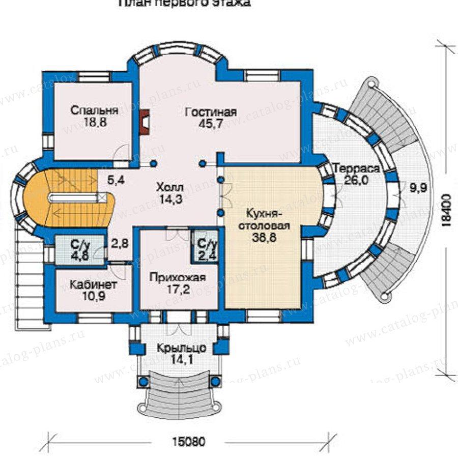План 2-этажа проекта 36-38